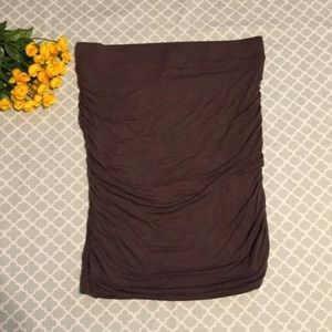 INC International Concepts Brown Ruched Skirt